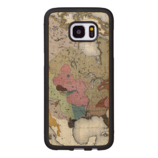 MAP: AMERICAN INDIANS 3 WOOD SAMSUNG GALAXY S7 EDGE CASE