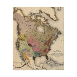 MAP: AMERICAN INDIANS 3 WOOD WALL ART