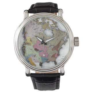MAP: AMERICAN INDIANS 3 WRISTWATCHES