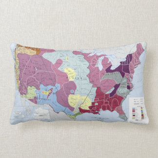 MAP: AMERICAN INDIANS LUMBAR PILLOW
