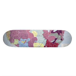 MAP: AMERICAN INDIANS SKATEBOARD DECK