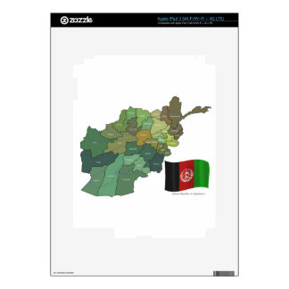 Map and Flag of Afghanistan Decals For iPad 3