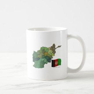 Map and Flag of Afghanistan Coffee Mugs