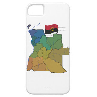 Map and Flag of Angola iPhone SE/5/5s Case