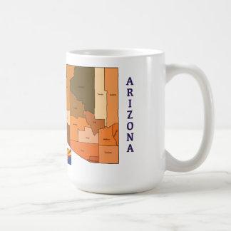 Map and Flag of Arizona Coffee Mug