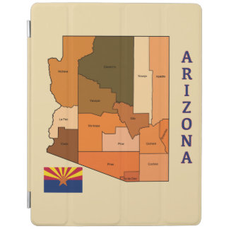 Map and Flag of Arizona iPad Smart Cover