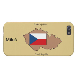 Map and Flag of Czech Republic Cover For iPhone SE/5/5s