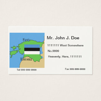 Map and Flag of Estonia Business Card