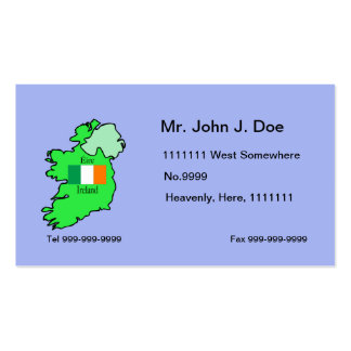 Map and Flag of Ireland Business Card Template