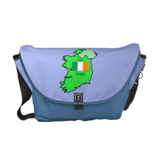 Map and Flag of Ireland Messenger Bag
