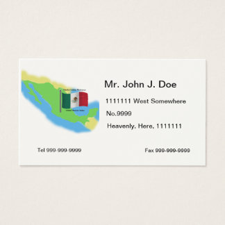 Map and Flag of Mexico Business Card