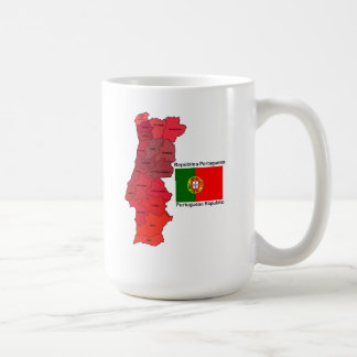 Map and Flag of Portugal Coffee Mug
