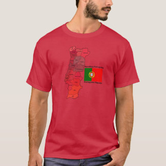 Map and Flag of Portugal T-Shirt