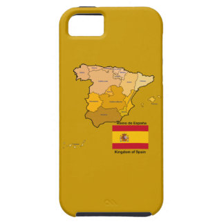 Map and Flag of Spain iPhone SE/5/5s Case