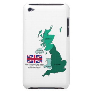Map and Flag of the United Kingdom Barely There iPod Cover