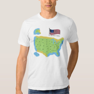 Map and Flag of United States of America Shirt