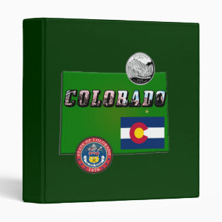 Map and Picture Text of Colorado 3 Ring Binder