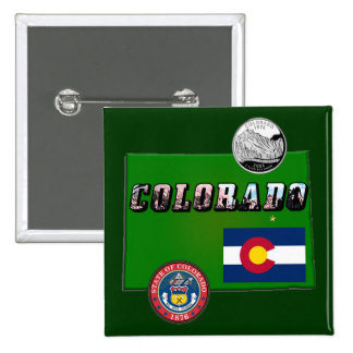 Map and Picture Text of Colorado Buttons