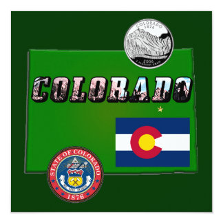 Map and Picture Text of Colorado Card