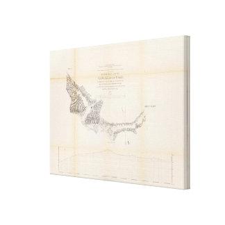 Map and Profile of Canada de las Uvas Gallery Wrap Canvas