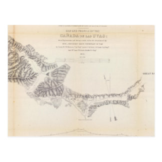 Map and Profile of Canada de las Uvas Post Cards