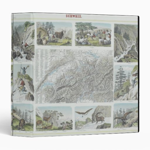 Map and Vignettes of Swiss Alps Binder