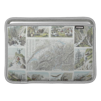 Map and Vignettes of Swiss Alps MacBook Air Sleeve