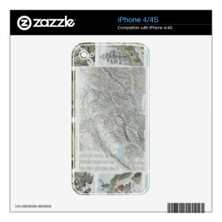 Map and Vignettes of Swiss Alps iPhone 4S Skin