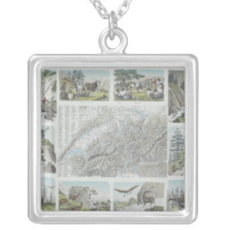Map and Vignettes of Swiss Alps Jewelry