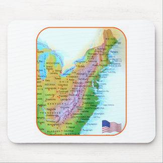 Map Appalachian Mountains East Coast US Photo Mouse Pad
