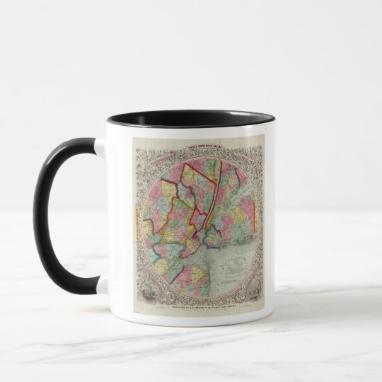 Map Around The City Of New York Mug