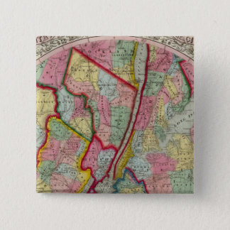 Map Around The City Of New York Pinback Button