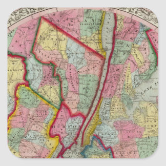 Map Around The City Of New York Square Sticker