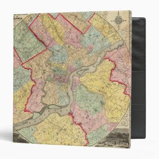 Map Around The City Of Philadelphia Binder