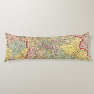 Map Around The City Of Philadelphia Body Pillow