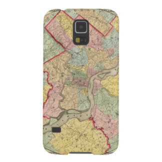 Map Around The City Of Philadelphia Cases For Galaxy S5