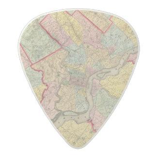 Map Around The City Of Philadelphia Acetal Guitar Pick