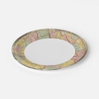 Map Around The City Of Philadelphia Paper Plate
