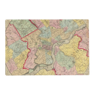 Map Around The City Of Philadelphia Placemat