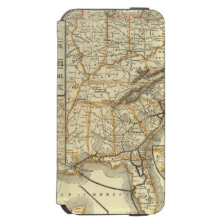 Map Atlantic Coast Line iPhone 6/6s Wallet Case