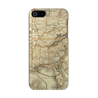 Map Atlantic Coast Line Metallic iPhone SE/5/5s Case