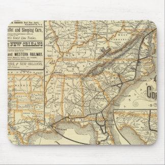 Map Atlantic Coast Line Mouse Pad
