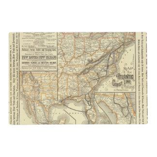 Map Atlantic Coast Line Placemat