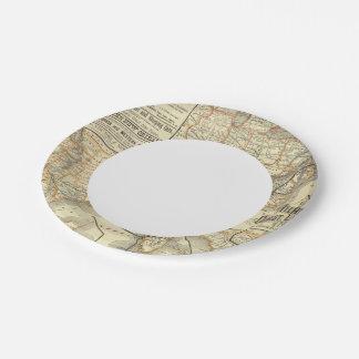 Map Atlantic Coast Line 7 Inch Paper Plate