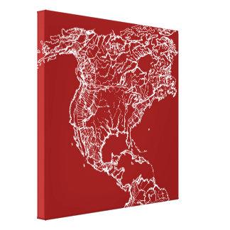 Map atlas in bright scarlett canvas prints