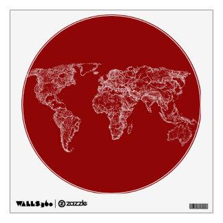 Map atlas in bright scarlett room graphics