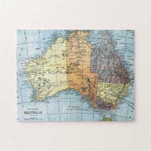 Australia Map Jigsaw.Map Australia C1890 Jigsaw Puzzle