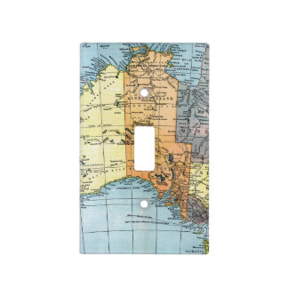 MAP: AUSTRALIA, c1890 Light Switch Cover