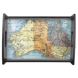 MAP: AUSTRALIA, c1890 Serving Tray