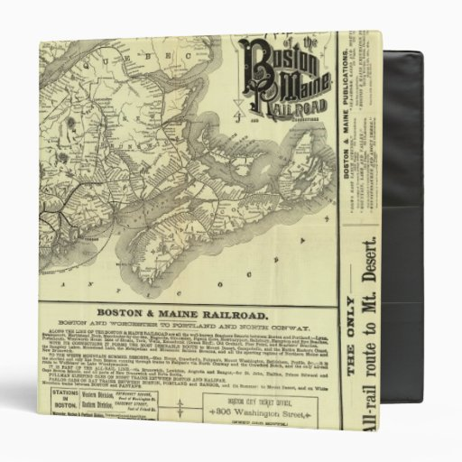 Map Boston and Maine Railroad 2 3 Ring Binder